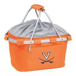 Picnic Time Metro Basket Virginia Cavalier Print Orange