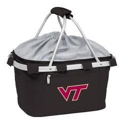 Picnic Time Metro Basket Virginia Tech Hokies Embroidered Black