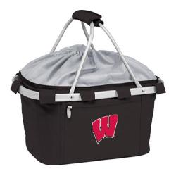 Picnic Time Metro Basket Wisconsin Badgers Embroidered Black