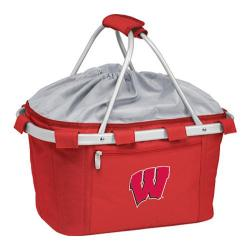 Picnic Time Metro Basket Wisconsin Badgers Embroidered Red