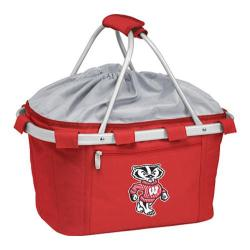 Picnic Time Metro Basket Wisconsin Badgers Print Red