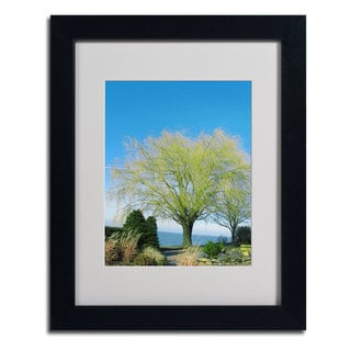 Kathie McCurdy 'Wind In the Willow' Framed Matted Art