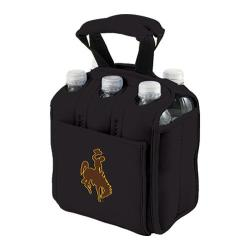 Picnic Time Six Pack Wyoming Cowboys Black