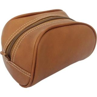 Women's Piel Leather Cosmetic Bag 2405 Saddle Leather