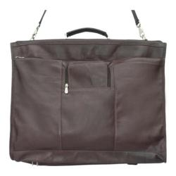 Piel Leather Chocolate 40-inch Elite Garment Bag
