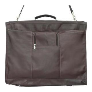 Piel Leather Chocolate 40-inch Elite Garment Bag