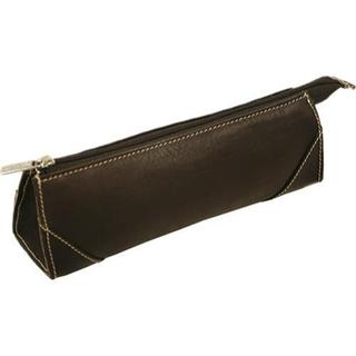 Women's Piel Leather Brush Pencil Bag 2583 Chocolate Leather