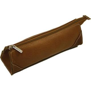 Women's Piel Leather Brush Pencil Bag 2583 Saddle Leather