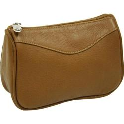 Women's Piel Leather Carry-All Zip Pouch 2845 Saddle Leather