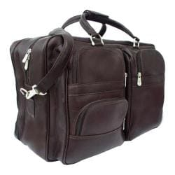 Piel Leather Chocolate Complete Carry All Tote Bag