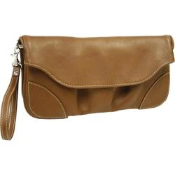 Piel Leather Large Saddle Clutch/ Wristlet