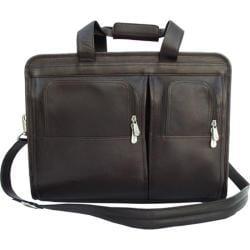Piel Leather Professional Computer Portfolio 2045 Chocolate Leather