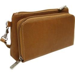 Piel Leather Saddle Shoulder Bag/Wristlet