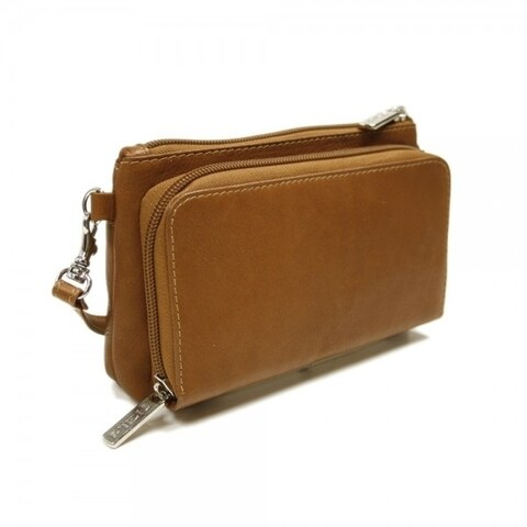 Piel Leather Saddle Shoulder Bag/Wristlet