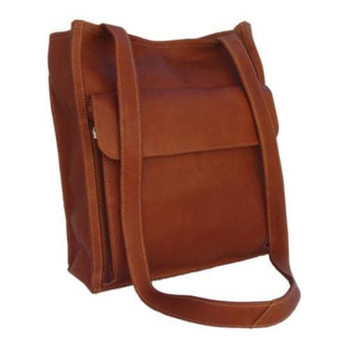 Piel Leather Shoulder Tote Organizer 7774 Saddle Leather