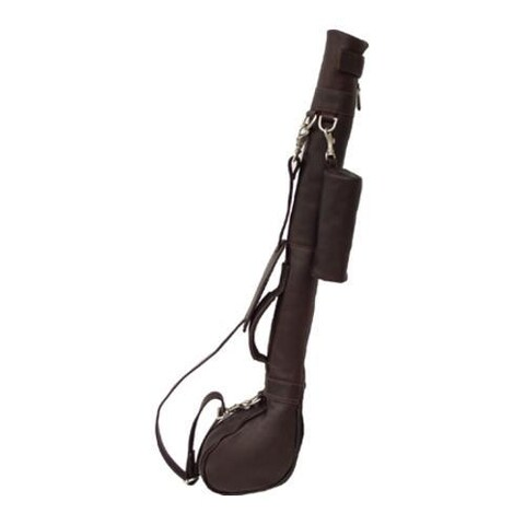 Piel Leather Driving Range Golf Caddy 9806 Chocolate Leather