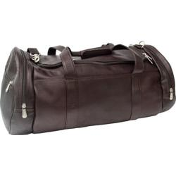 Piel Leather Chocolate 23-inch Duffle Bag
