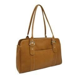 Women's Piel Leather Ladies Buckle Business Tote 2742 Saddle Leather