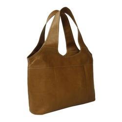 Women's Piel Leather Laptop Hobo 2824 Saddle Leather