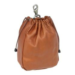 Piel Leather Large Drawstring Pouch 2140 Saddle Leather