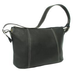 Women's Piel Leather Medium Shoulder Bag 2403 Black Leather