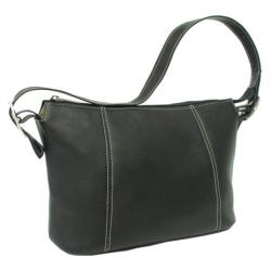 Women's Piel Leather Medium Shoulder Bag 2403 Black Leather