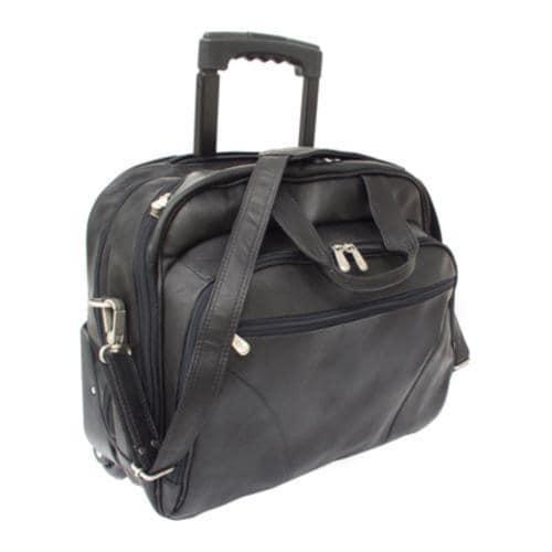Piel Leather Office On Wheels Rolling Carry Laptop Case