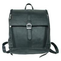 Piel Leather Black Slim Laptop Backpack