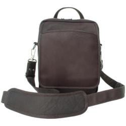 Piel Leather Chocolate Travelers Messenger Bag