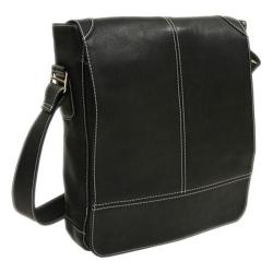 d08c29026ef4 Piel Leather Black Urban Vertical Messenger Bag | Overstock.com Shopping -  The Best Deals on Messenger Bags