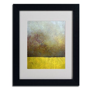 Michelle Calkins 'Earth Study II' Vertical Framed Matted Art