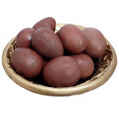 Handmade Set of 12 Shona Decorative Serpentine Stone Eggs (Zimbabwe)