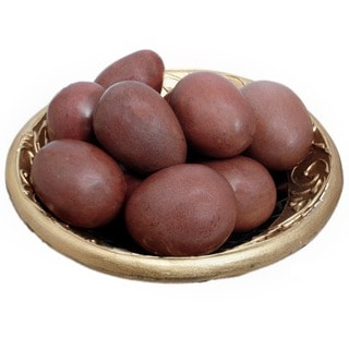 Handmade Set of 12 Shona Decorative Serpentine Stone Eggs (Zimbabwe)