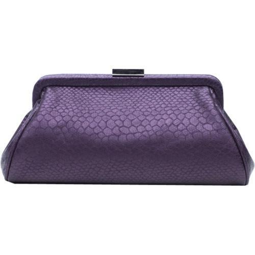 Women's Soapbox Bags Monaco Evening Clutch Purple Croc