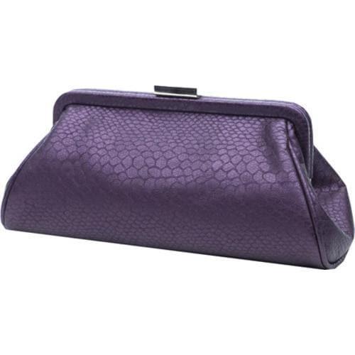 Women's Soapbox Bags Monaco Evening Clutch Purple Croc - Thumbnail 1