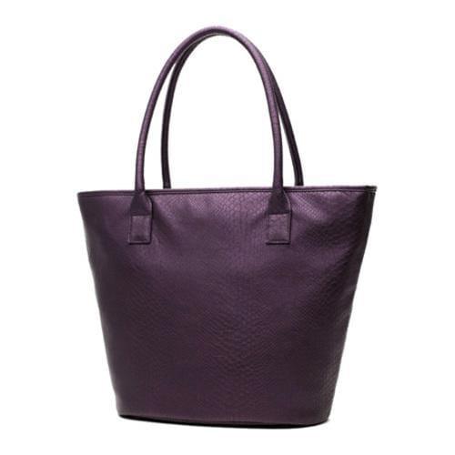 Women's Soapbox Bags Vineyard Shopper Tote Purple Croc - Thumbnail 1