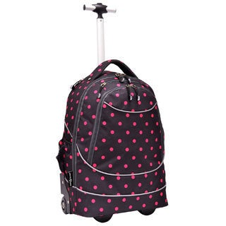 US Traveler Horizon Polka Dot Rolling Computer Backpack