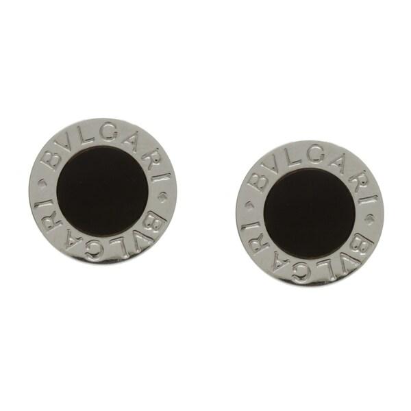 96a4ea2b5 Shop Bvlgari 18k White Gold Onyx Stud Estate Earrings - Free ...