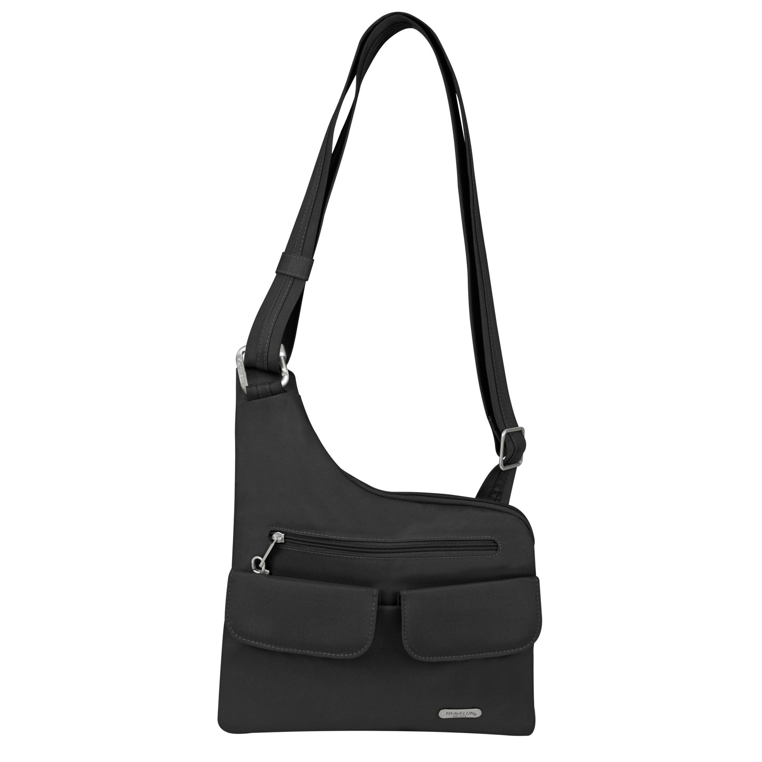 Travelon Anti-Theft Black Crossbody Messenger Bag (One Si...