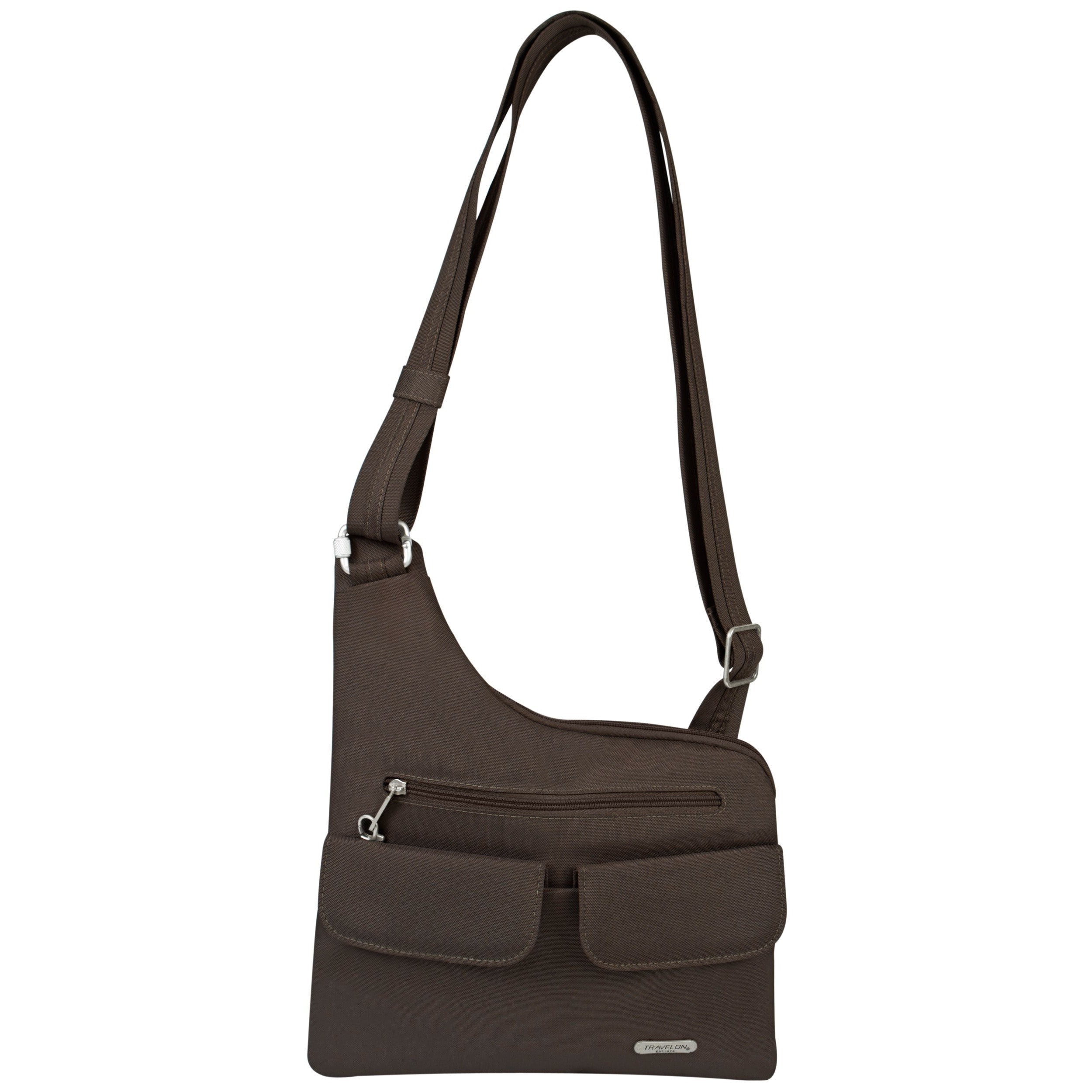 Travelon Anti-Theft Chocolate (Brown) Crossbody Travel Me...