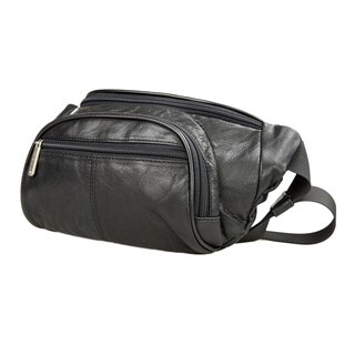 Travelon Leather Waist Pack w/Organizer Black