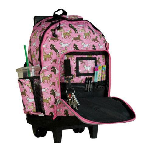 Wildkin Horses in Pink High Roller Rolling Backpack - Free ...