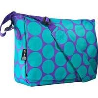 Wildkin Big Dot Aqua 13 Inch x 10 Inch Messenger Bag