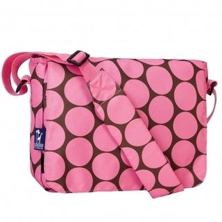 Wildkin Big Dot Pink 13 Inch x 10 Inch Messenger Bag