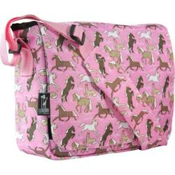 Wildkin Horses in Pink 13 Inch x 10 Inch Messenger Bag
