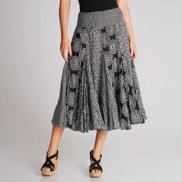Grace Elements Women's All-over Printed Cotton Skirt