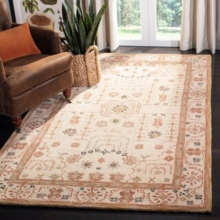 Safavieh Handmade Anatolia Oriental Treasure Sand Hand-spun Wool Rug (11' x 15')