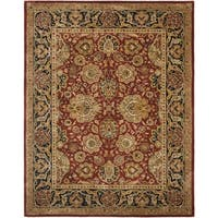 Safavieh Handmade Persian Legend Rust/ Navy Wool Rug - 8'3 x 11'