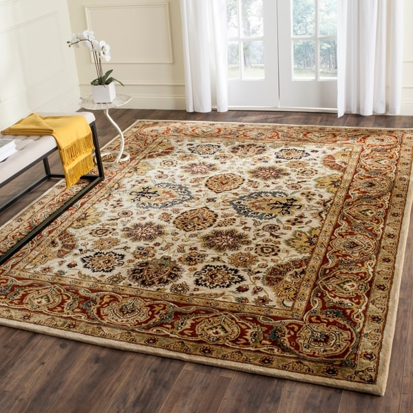 Shop Safavieh Handmade Persian Legend Ivory Rust Wool Area: Shop Safavieh Handmade Persian Legend Ivory/Rust Wool Area