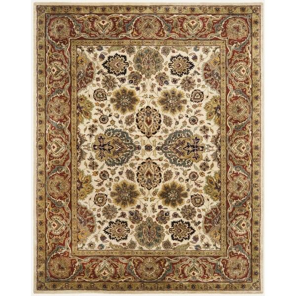 Safavieh Handmade Persian Legend Ivory/Rust Wool Area Rug - 7'6 x 9'6